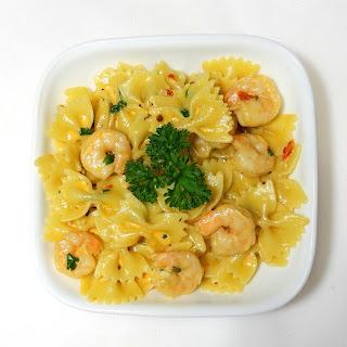 Creamy Shrimp Pasta with Sun Dried Tomato Pesto