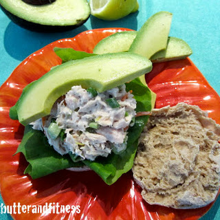 Healthy Tuna Salad on English Muffin.