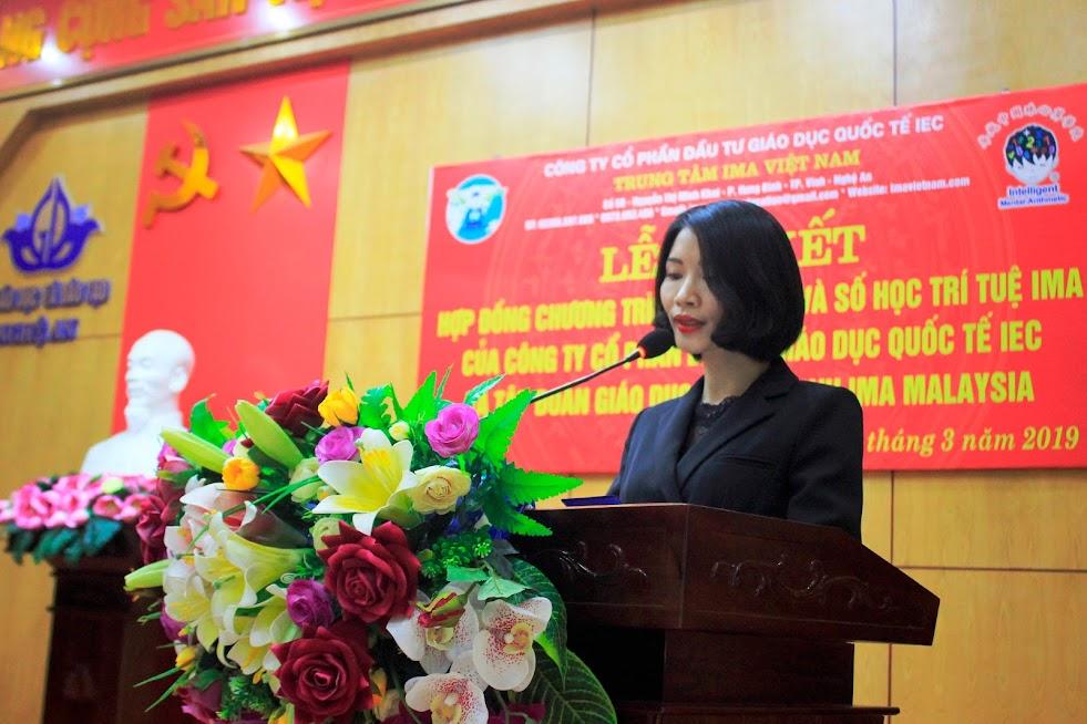 Phát biểu tại chương trình, bà Lê Thị Hường, Tổng Giám đốc Công ty Cổ phần đầu tư Giáo dục Quốc tế IEC nhấn mạnh, chương trình IMA có nhiều điểm cải tiến, nổi trội so với các chương trình khác