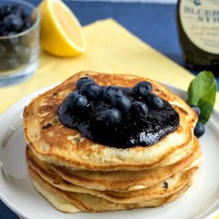 Lemon Blueberry Ricotta Pancakes.