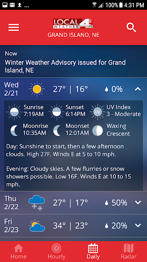 KSNB Local4 Weather 5.0.600 screenshots 5