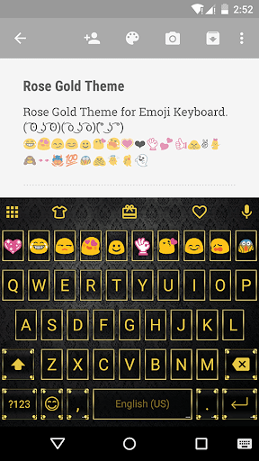 Rose Gold Emoji Keyboard Theme