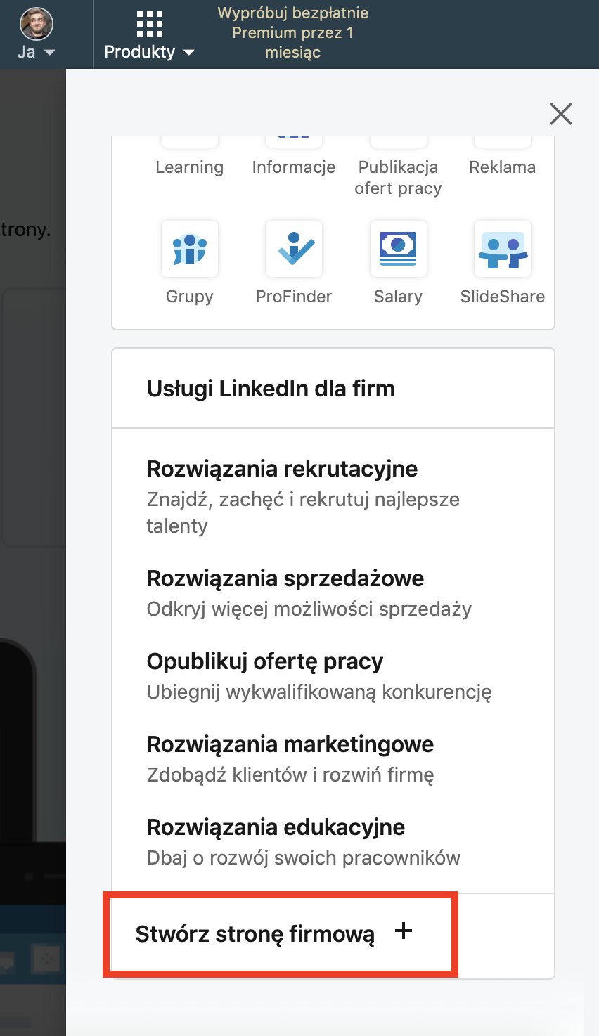 zakładanie strony na LinkedIn