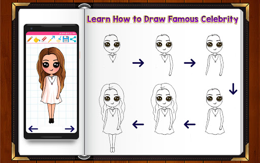 Learn How to Draw Chibi Famous Celebrities 1.2.2 screenshots 5
