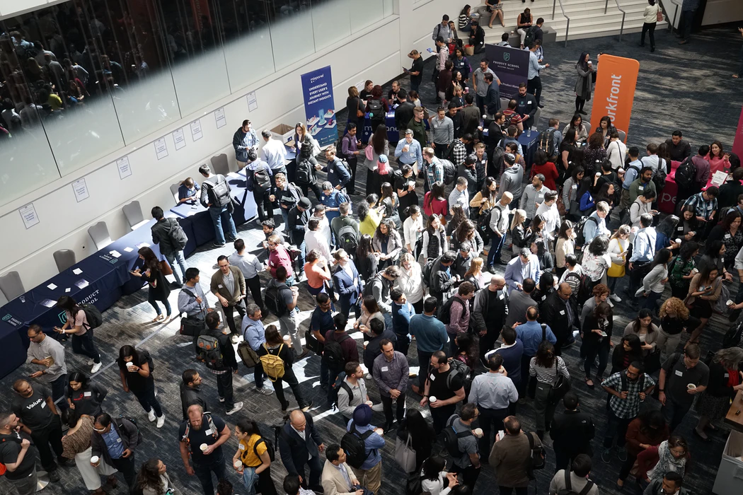 People networking in an event