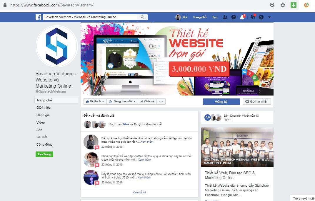 trang Fanpage của Savetech