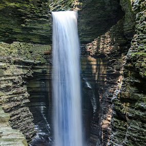 by Lyle Gallup - Landscapes Waterscapes ( water, pool, cliff, waterfall, stone, wet, rushing, river,  )