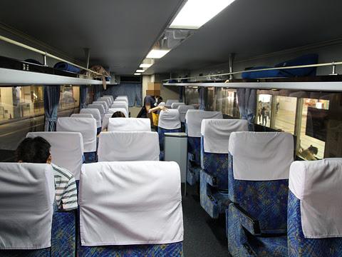 西日本鉄道「フェニックス号」 6017 車内