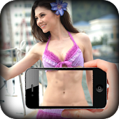 Girl body scanner simulator