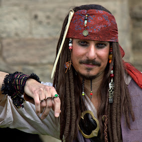 Captain Jack Sparrow by Michael Topley - People Portraits of Men ( england, model, uk, captain jack sparrow, male, costume, castle, man, britain, tutbury, pirate )