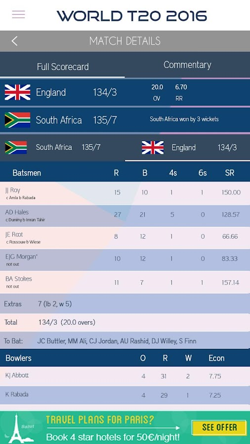 Live Cricket Scores 2016- screenshot