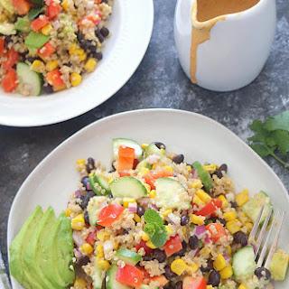 Healthy Quinoa and Bean Salad.