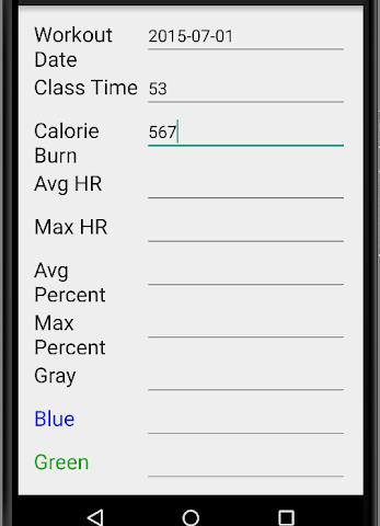 android OTF Workout Calculator Screenshot 6