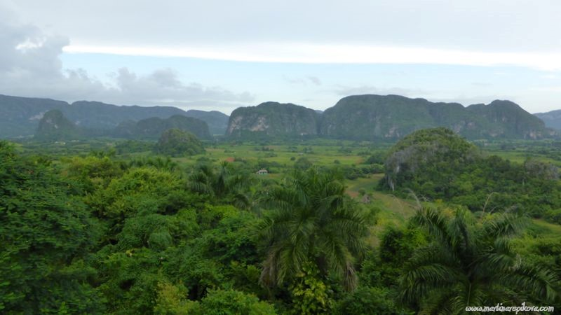 Pinar del Rio province with mogots, farms and red soil, Cuba