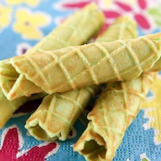 Pandan Waffle Cones and Cookies Recipe