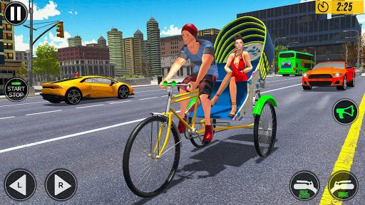 Bicycle Tuk Tuk Auto Rickshaw : New Driving Games screenshots 8