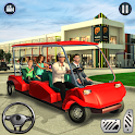 Shopping Mall Radio Taxi: Car Driving Taxi Games icon