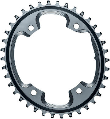 Absolute Black Oval N/W CX Chainring - 4-Bolt x 110 bcd alternate image 2