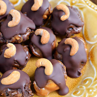 Blueberry Cashew Caramel Clusters with DOVE Chocolate.