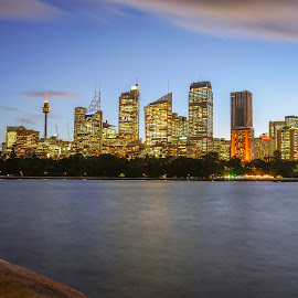 Twilight Skyline by Sugiarto Wijaya - Uncategorized All Uncategorized ( #dusk, #sydney, #australia, #twilight, #skyline, #newsouthwales, #sydneytower, #nsw # )