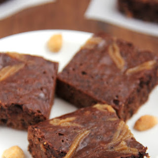 Fudgy Double Peanut Butter Brownies