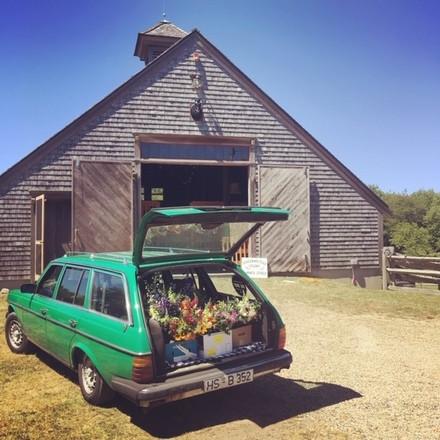 Iconic 1984 Irish Green Mercedes wagon, Maude Hire NY