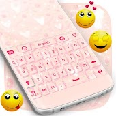 Girly Pink Keyboard Theme