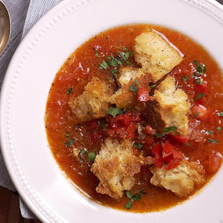 Tarragon Tomato Soup and Croutons.