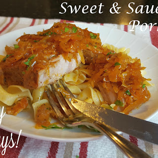 Sweet & Sauerkraut Pork Chops.