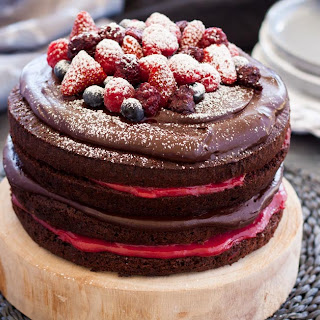 Blackberry Chocolate Cake.