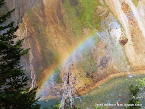 Photo: Rainbow at Lower Yellowstone Falls