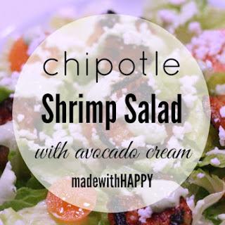Chipotle Shrimp Salad with Avocado Cream