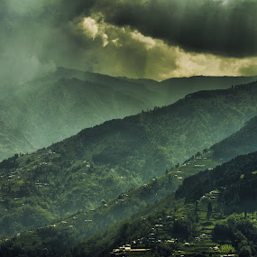Mystic Rays by Subroto Mukherjee - Landscapes Mountains & Hills ( north bengal, hills, mountains, okhrey, sunrays, valley )