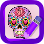 Learn How to Draw Sugar Skulls APK icon