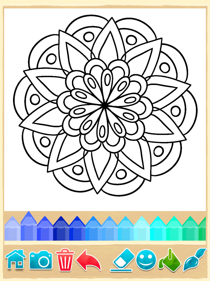 Mandala coloring pages android apps on google play Coloring book for adults app