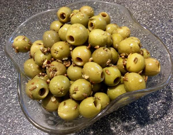 Moroccan Spiced Green Olives
