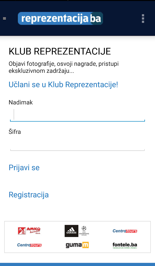 Reprezentacija.ba- screenshot