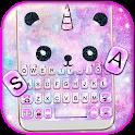 Galaxy Panda Unicorn Keyboard Theme icon