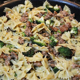 Farfalle with Sausage and Roasted Broccoli.