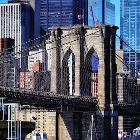 Brooklyn Bridge  by Aurelio Firmo - Buildings & Architecture Bridges & Suspended Structures ( newyork, brooklyn bridge )