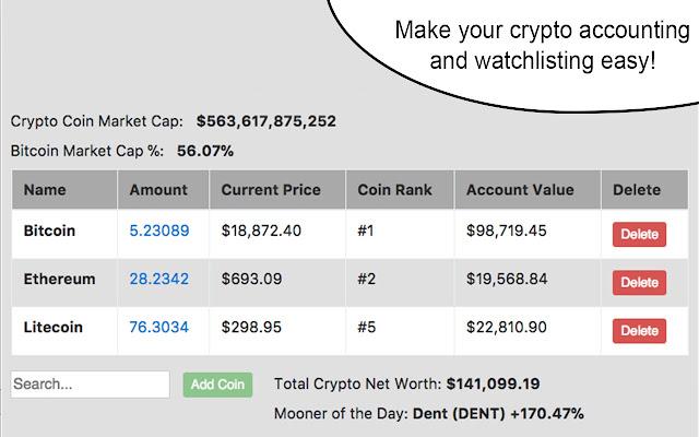 Crypto Wallet Calculator & Watchlist