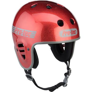 Pro-Tec Full Cut Helmet: Red Flake