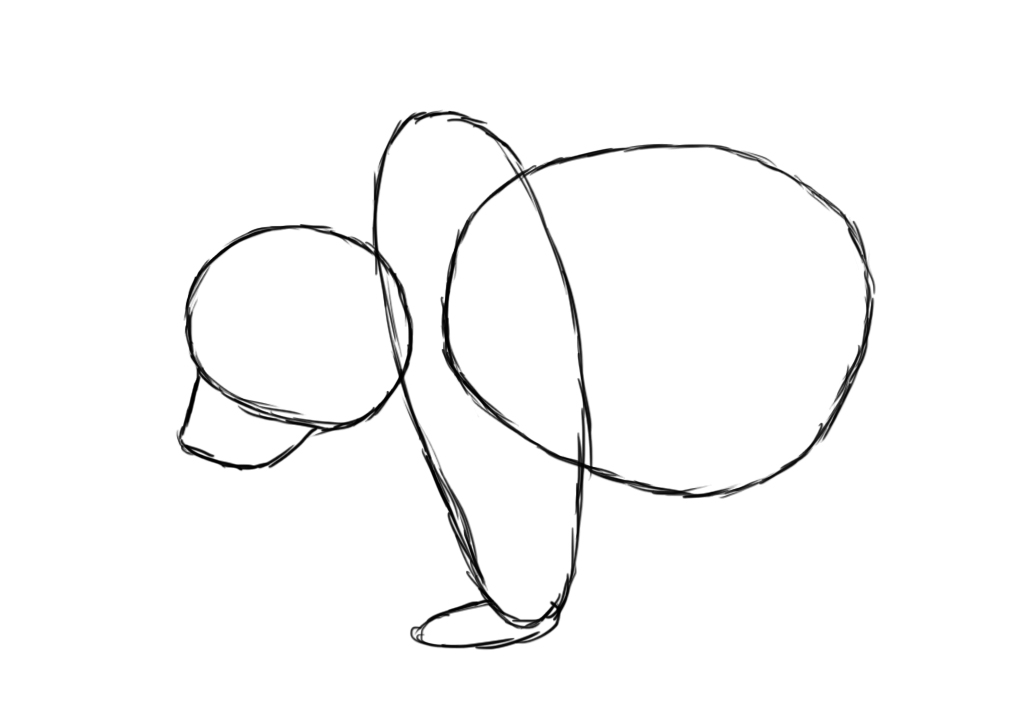 how to draw a bear using basic shapes step 6