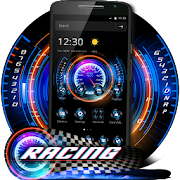 Racing Neon Speedometer Theme