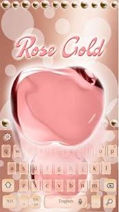 ? Rose gold keyboard - náhled