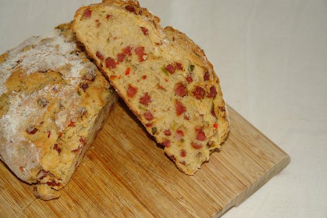 Chorizo and Pepper Bread Recipe