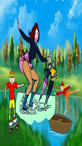 女の子のためのアイススケート大会