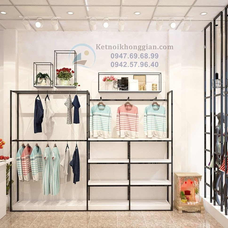 thiết kế cửa hàng thời trang cho phái nữ