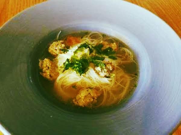 Pork Meatball Noodle Bowl With Umami Broth