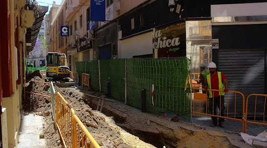 El centro encara la fase final de las obras de peatonalización